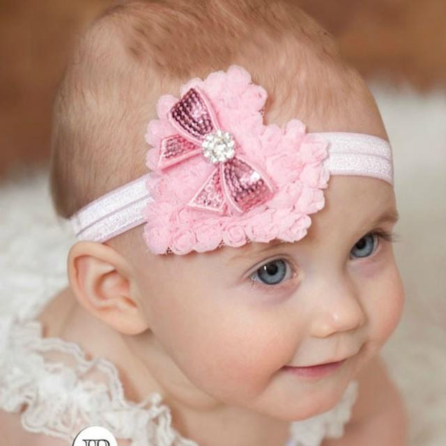 1X Мода Детские Девушки Малышей Младенческой Новорожденных Hairband Crytral Сердце ...