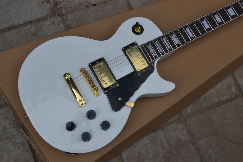HOT!!!free shipping!!2011 new guitar Custom 1960 LP VOS white Electric Guitar finisehd like playing years effect!(China (Mainland))