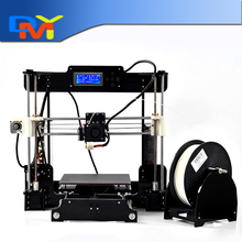 High Quality Precision Reprap Prusa i3 DIY 3d Printer kit (with 2 Roll Filament 16GB SD card,LCD) Material size 220*220*235mm