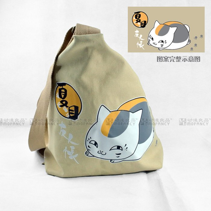 2015 hot sale high quality anime Japanese Natsume Yuujinchou theme Canvas Messenger Bag khaki casual of unisex shoulder bag(China (Mainland))