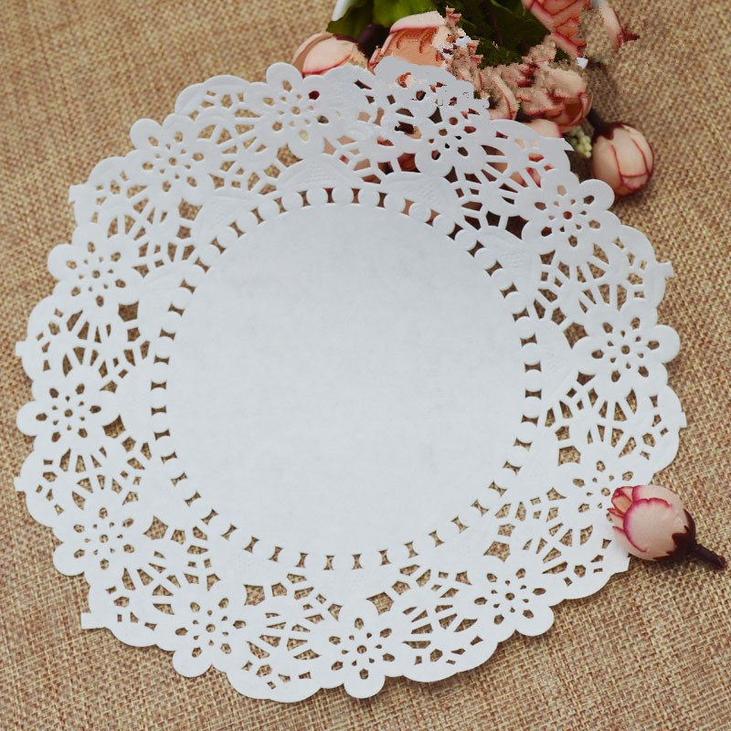 130/180Pcs White Round Lace Paper Doilies Vintage Coasters Cake Cookies Placemat Mat Wedding Christmas Table Decoration(China (Mainland))