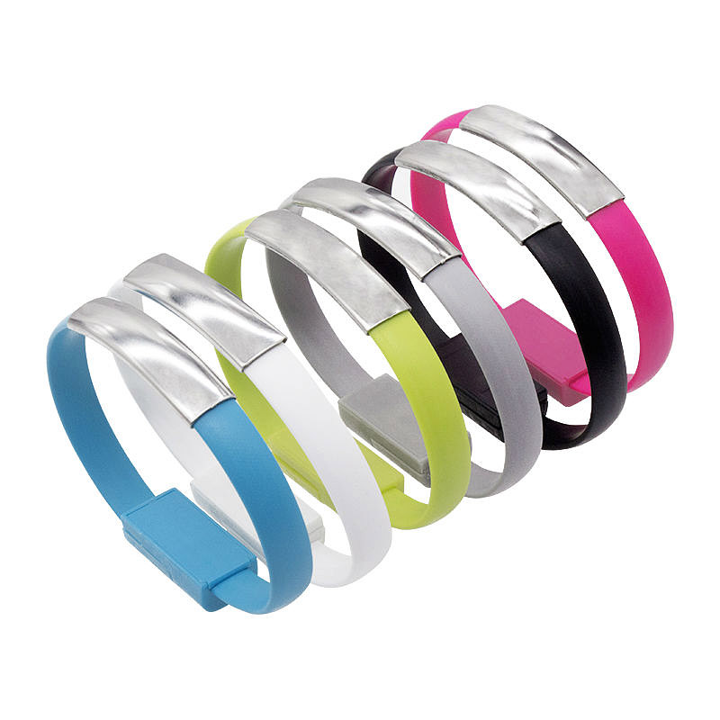 Micro USB 2.0 Data Sync Charger Cable Bracelet Wristband For Samsung For LG For Huawei(China (Mainland))