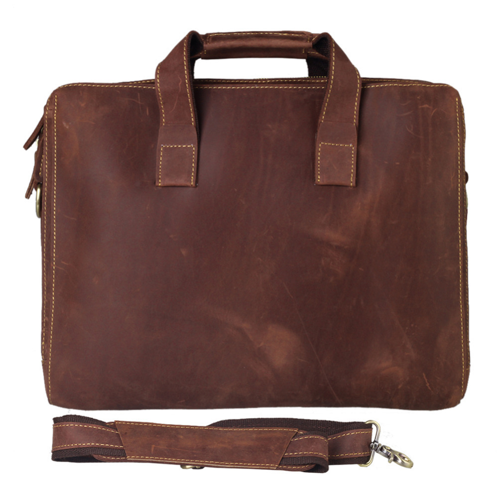 2014 High Quality Genuine Leather Mens Formal Dress Office Bags Business Briefcase Laptop Bag ...