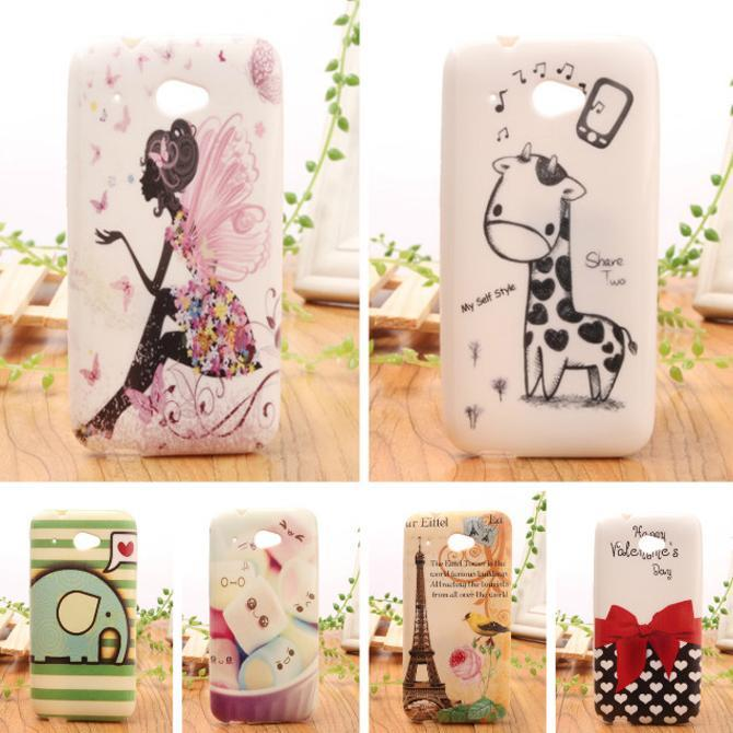 1 Piece Lovely Design Rubber TPU Silicone Shell Cover Back Skin Protection Case For HTC DESIRE 601(China (Mainland))