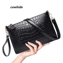 Buy 2016 women clutch shoulder crossbody Genuine leather purses evening bags lady cowhide small envelope women messengers' bag pouch for $13.14 in AliExpress store