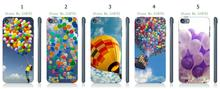 Mobile Phone Cases Wholesale 5pcs/lot balloon Protective White Hard Case Cover For Ipod Touch 5 5th Free Shipping