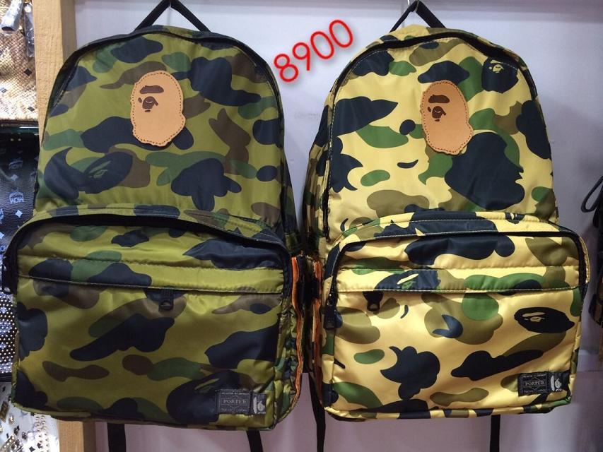 Bape Camo Backpack Shoulder schoold bag<br>
