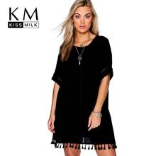 Buy Kissmilk Plus Size New Fashion Women Clothing Basic Streetwear Lace Dress O-Neck Short Sleeve Big Size Dress 3XL 4XL 5XL 6XL for $15.29 in AliExpress store