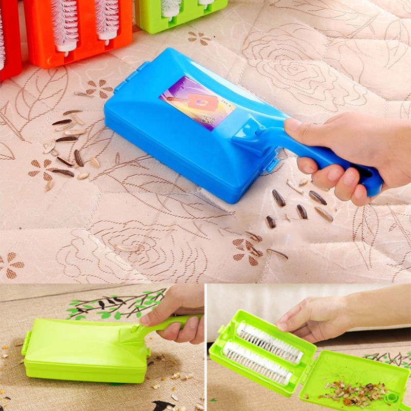 New Carpet Table Brush Plastic Handheld Crumb Sweeper Sofa Bed Brush Dirt Cleaner Collector Roller For Home Cleaning Tools(China (Mainland))