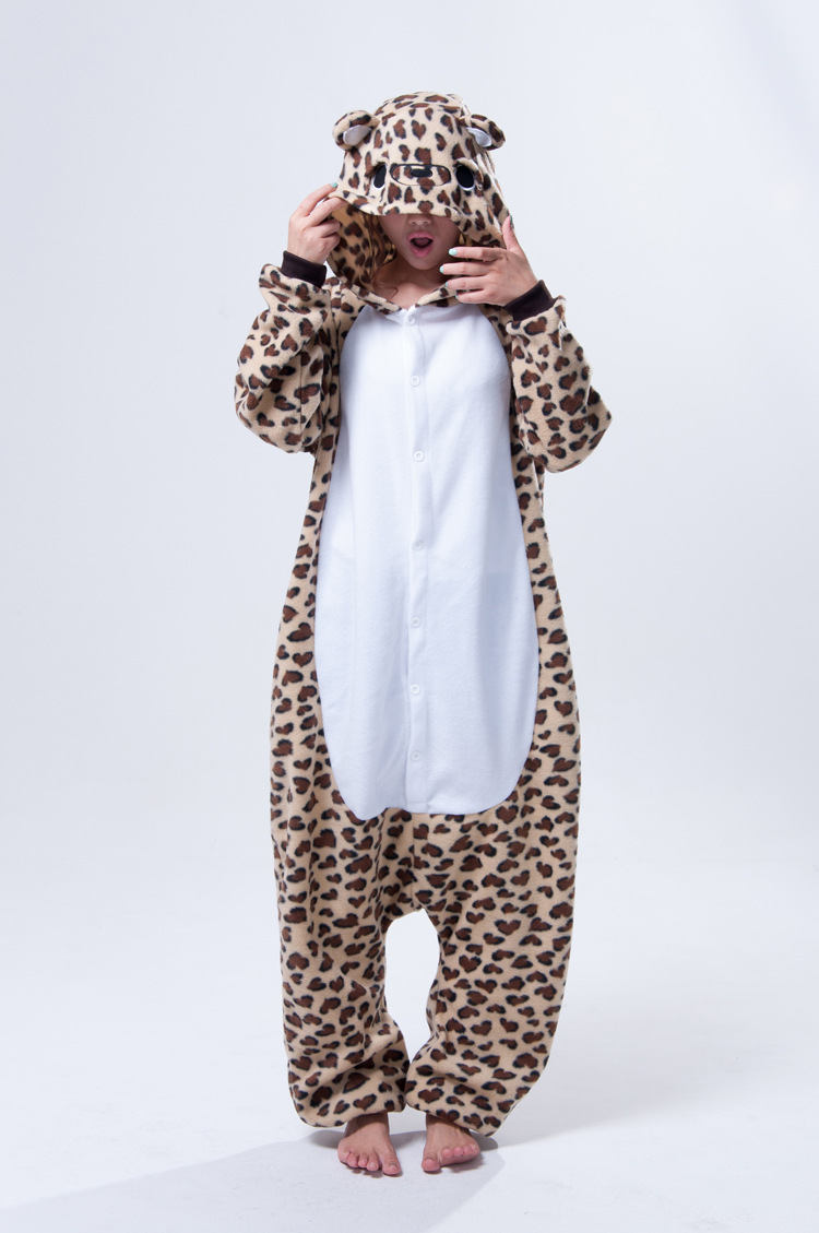 Fashion Christmas Costumes Pajamas One Pyjama Animal suits Cosplay Adult Garment Flannel Leopard Bear Cartoon Onesies - RUBY TOP 2 store