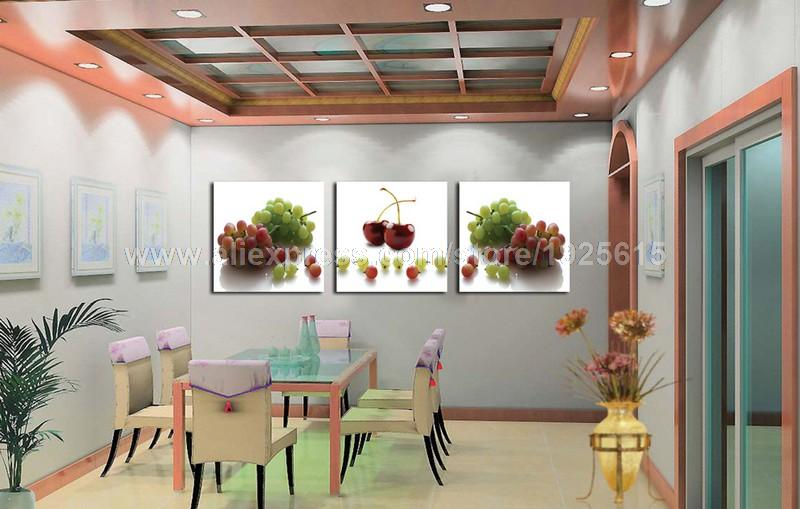 S rie de fruits reproduction impression sur toile peinture for Decoration maison aliexpress