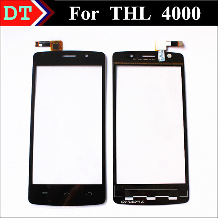 100% Original THL 4000 New Touch Screen Digitizer Replacement glass 4.7 inch samrt phone Black color(China (Mainland))