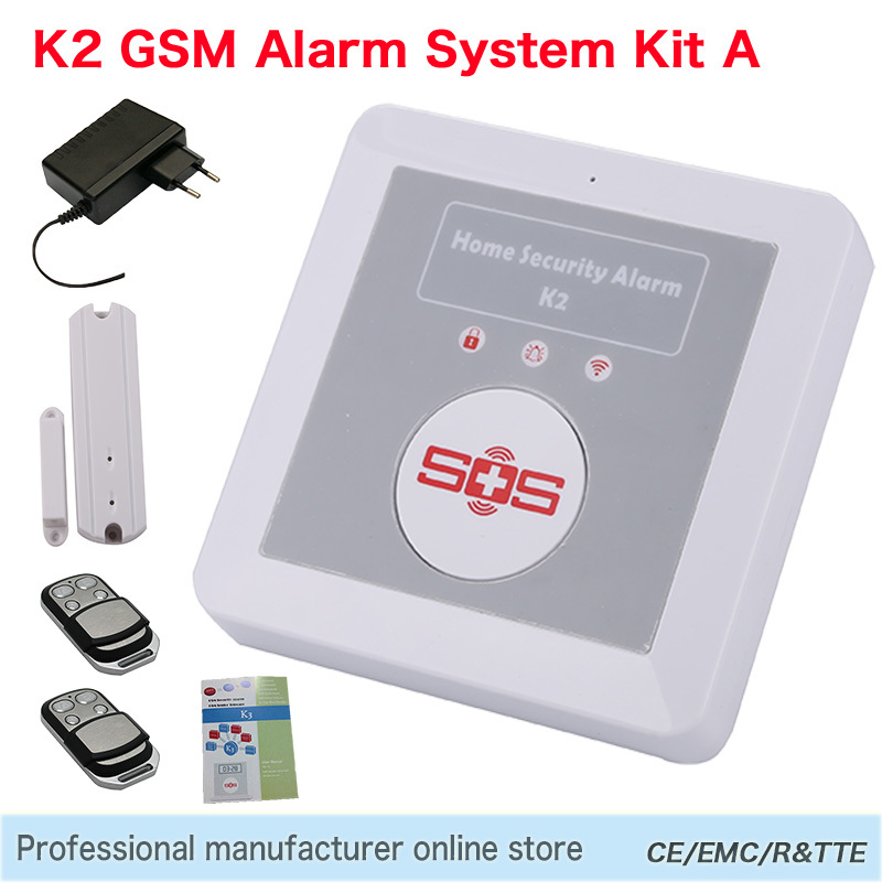 home security gsm wireless burglar alarm sms emergency. Black Bedroom Furniture Sets. Home Design Ideas