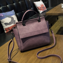 New Arrival Vintage Trapeze Tote Bags Women Leather Handbags Ladies Retro Shoulder Bags Large Capacity Casual Top-Handle Bags