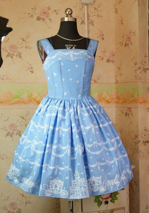 Lolita Dress Girl Party Sweet Princess Dress Spring/Autumn Elegant Dress Christmas Cosplay Costume S M Yellow/Black/Sky Blue(China (Mainland))