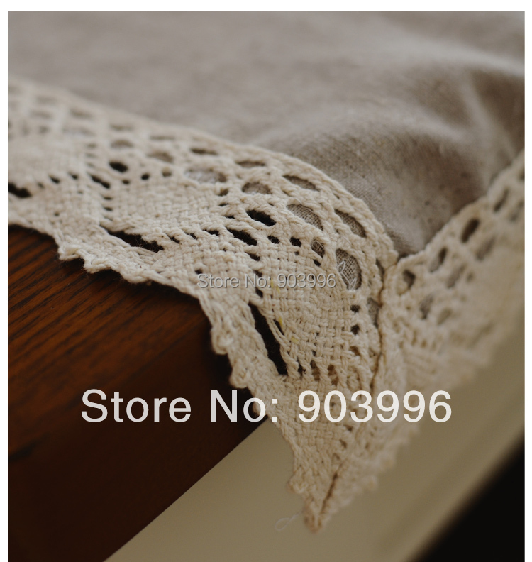 Free shipping-Contracted the Nordic style Pure color washed linen table cloth-(140*180cm)only table cloth(China (Mainland))