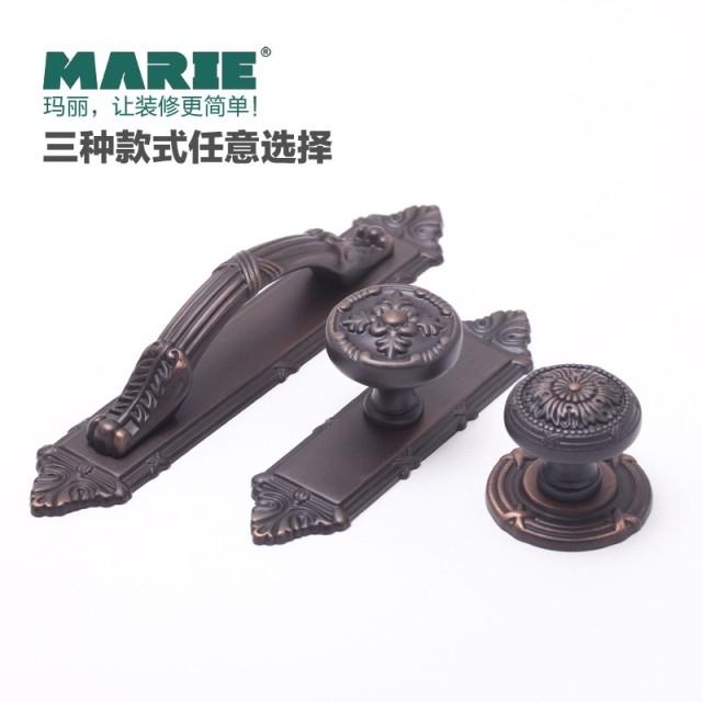 alo simple European furniture hardware all red bronze retro clothes cupboard drawer shoe door handle doorknob(China (Mainland))
