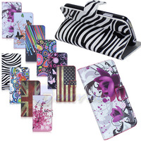 Hot Flower Butterfly Meteor Wallet Leather Magnetic Case For Samsung Galaxy S4 I9500 Card Holder Stand Phone Case Free Shipping
