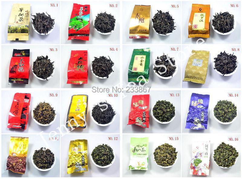 Super Popular 26 Different Flavor Famous Tea Chinese Oolong Tea(Tieguanyin,Milk oolong,Dahongpao,Black tea)FREE SHIPPING(China (Mainland))