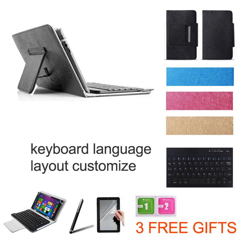 3 Gifts 10.1 inch UNIVERSAL Wireless Bluetooth Keyboard Case for HP Pavilion X2 Z3736F Keyboard Language Layout Customize(China (Mainland))