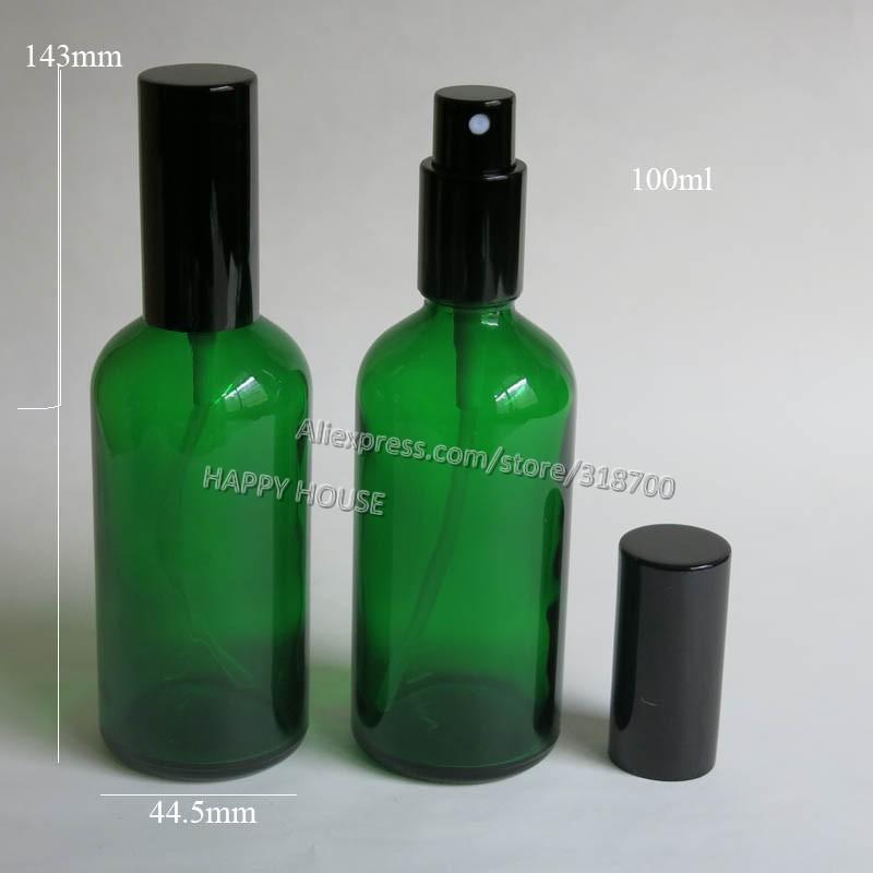 360 x 100ml Green  Glass Perfume Bottle,100 cc Mist Sprayer Glass Bottle, 100 cc perfume glass atomizer
