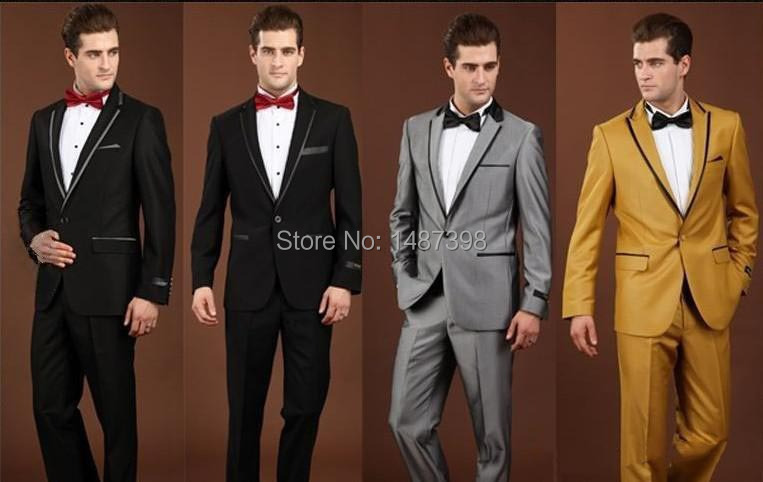 Hot sale free shipping wedding dress suit men's 2014 latest design suits white round neck wool two pieces coat+pants(China (Mainland))