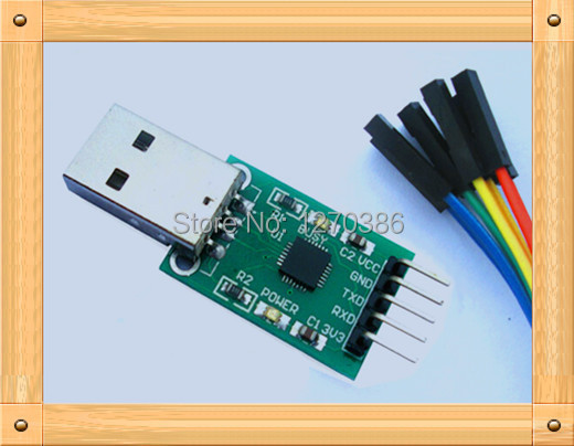 Free Shipping!!! USB to TTL module / CP2102 module / STC microcontroller downloader / hard brush line (send DuPont line)(China (Mainland))