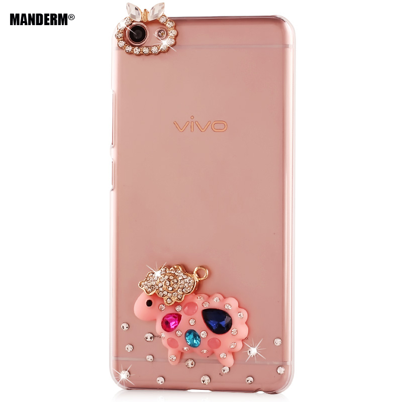 X7 Fashion Luxury Rhinestone Case BBK vivo X7 phone case Multi-style Clear Hard Back Cover Plastic Protective Shell Cases