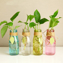 1pcs zakka home decorative stained glass hydroponic small vase windowsill flower table bathroom shelf(China (Mainland))