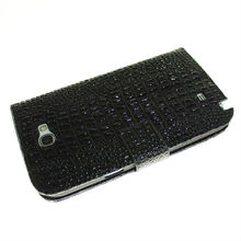 free shipping Crocodile Pattern Wallet Case for Samsung Galaxy Note 2 N7100 Stand Cover With Card Slots Accessories(China (Mainland))