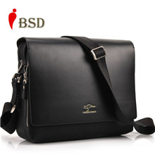 2015 Designer Kangaroo Brand men messenger high quality bags shoulder-bag Genuine pu Leather Men Bag men's business bag V1B33