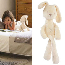 Prmotion Toy 54*11CM Cute Baby Kids Animal Rabbit Sleeping Comfort Doll Plush Toy(China (Mainland))