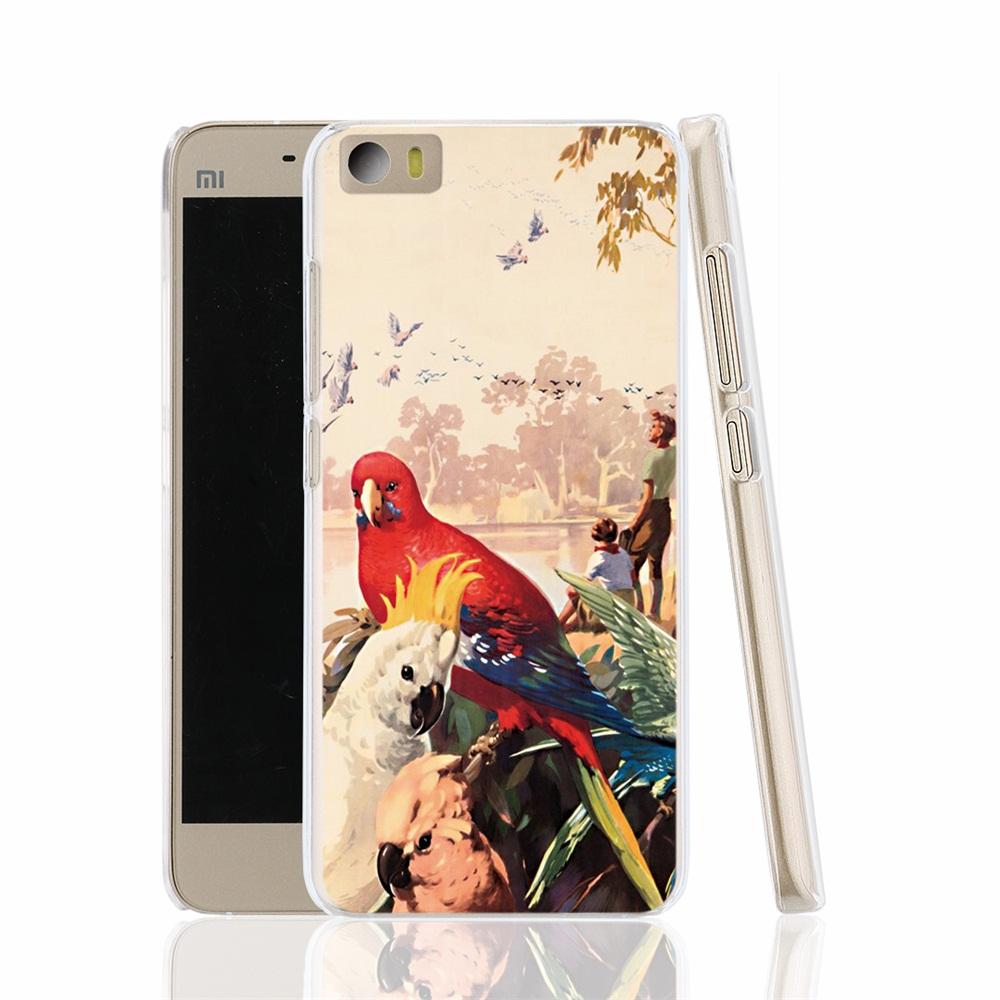 17369 RAINBOW PARROT AUSSIE AUSTRALIA cell phone Cover Case for Xiaomi Mi M 2 3 4 5 Mi4 Mi2 Mi3 Mi4 4S 4I Mi5 NOTE(China (Mainland))