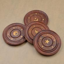 Random Style Wooden Wood Cross Incense Burner Sticks Holder Dish For Living Room (China (Mainland))