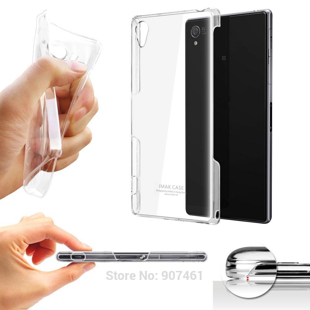 100% Genuine IMAK Crystal Hard PC back case cover for Sony Xperia Z3 Z2 Z1 mini compact Z C3 C T3 T2 A2 E1 M35H Retail/Wholesale(China (Mainland))