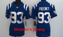 A+++ Women ladies all stitched Indianapolis Colts ladies 1 Pat McAfee 12 Andrew Luck 13 TY Hilton Embroidery Logos size S to XXL(China (Mainland))