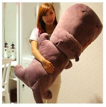 big new lovely cartoon purple hippo toy plush hippo doll gift about 140cm