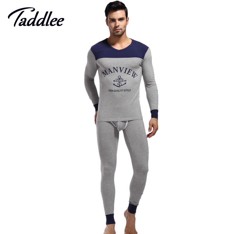 1 set Brand New autumn Men's Pajamas sets Fashion Long Sleeve Men Home Wear Cotton lounge set sleepwear Manview keep warm sleeve