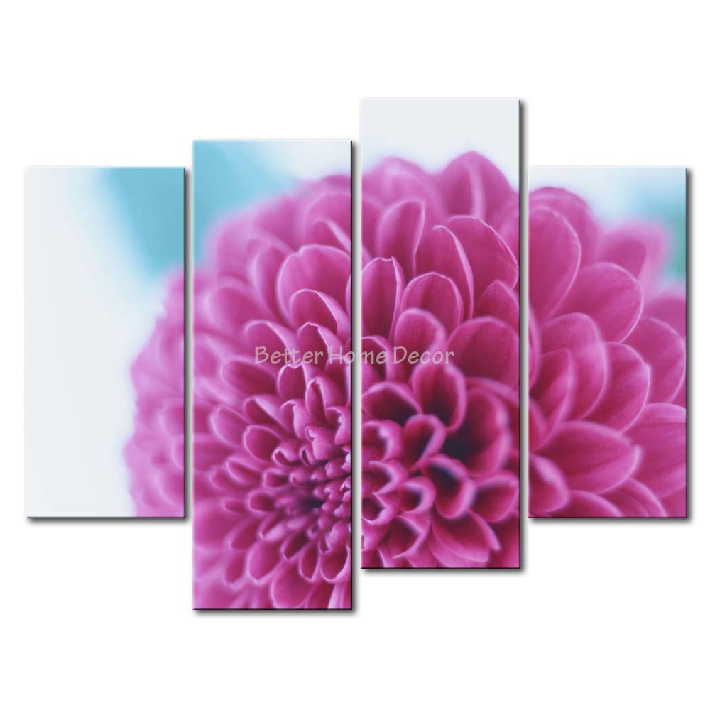 3 Piece Red Wall Art Painting Pink Dahlia Print On Canvas The Picture Flower 4 5 Pictures Oil For Home Decoration Prints Decor(China (Mainland))