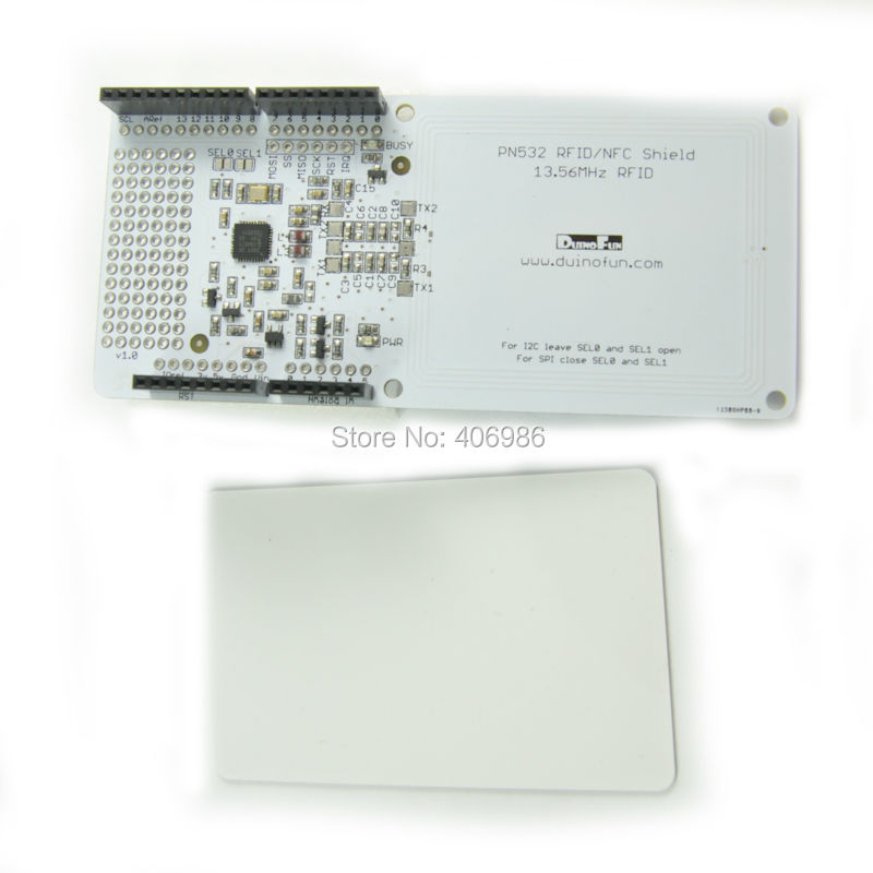 RFID NFC PN532 Shield IC Card Expansion Boards for Arduino with White Card(China (Mainland))