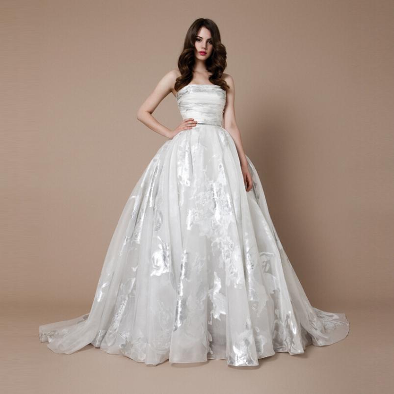 Vestido De Noiva Simple Elegant Lace Appliques Wedding Dresses Shoulder Sleeveless Flower Ball Gown Bride Dress - Esaer Store store