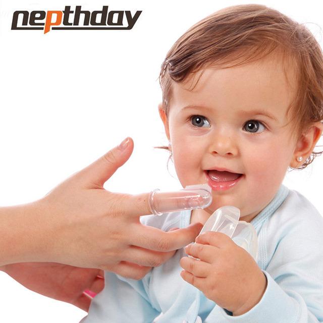 Детские дети силиконовые пальцев зубная щетка Gum щетка детская лиственные зубная ...