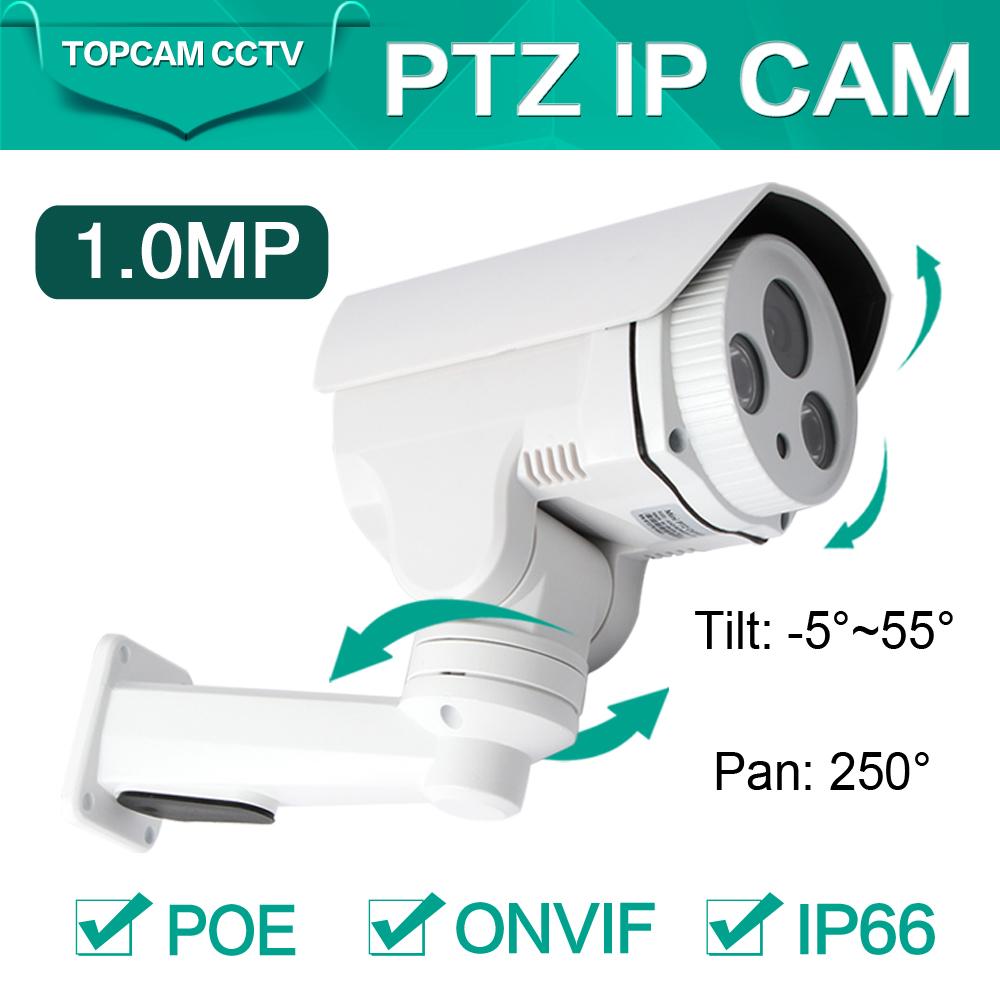 1.0MP Middle Speed IP PTZ Camera 720P Fixed 6MM Lens Pan/Tilt Rotation Array LEDS IR 30M ONVIF Waterproof Outdoor Bullet Camera(China (Mainland))