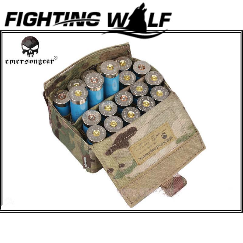 100% Original Emerson Bullet Ammo Holder Box Paintball Airsoft Tactical Shotgun Bullet Bag Portable Outdoor Hunting Accessory(China (Mainland))