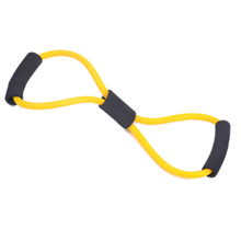 2015 Highly Commend 2 pcs Resistance bands chest expander Rope spring exerciser -Yellow