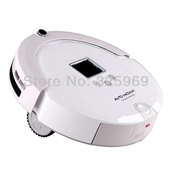 House Using Robot Vacuum Cleaner With with LCD Touch Screen, Virtual Wall, UV Lamp Sterilizer, Remote Control