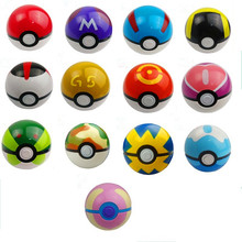 13 Colour 1:1 Cute Pokemon Poke Ball Pokeball Mini Model Classic Anime Pikachu Super Master Pokemon Ball Action Figures Toys 7cm(China (Mainland))