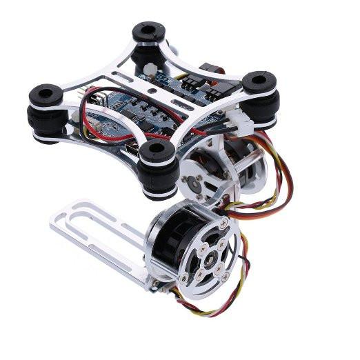 Andoer 2D Light Weight Silver Brushless Motor Gimbal for DJI Phantom 1 2 3+ Aerial Photography