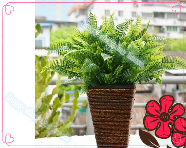The green leaf fern plants Persian fake grass flower parts plastic artificial grass&plants 36cm(China (Mainland))