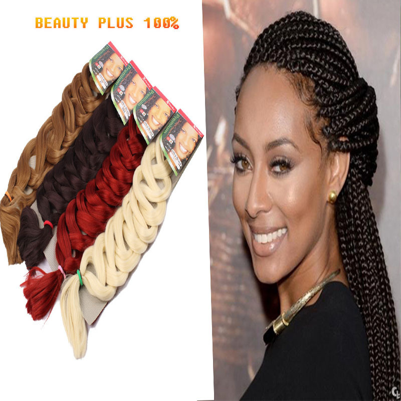 5 PCS/Lot Synthetic Xpression Braid Hair 82 Inch Kanekalon Xpression Braiding Hair 165g Box Braids Hair For Ombre Braiding Hair<br><br>Aliexpress